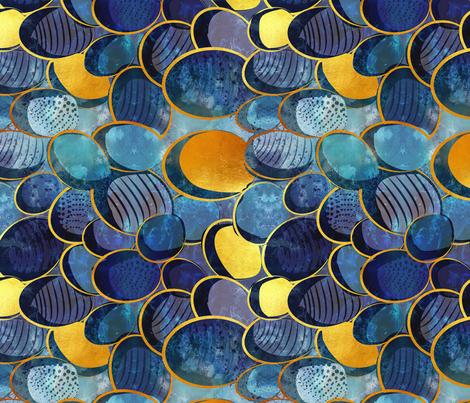 Abstract deep blue fabric by selmacardoso on Spoonflower - custom fabric