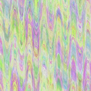 WATERCOLOR MARBLED PAPER LIME PURPLE SPRING