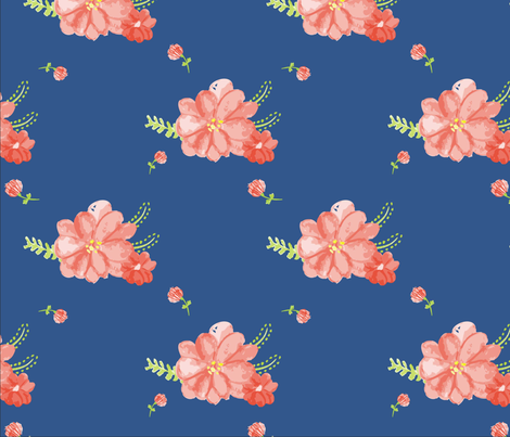 WatercolorBlossom fabric by cotton_and_love on Spoonflower - custom fabric