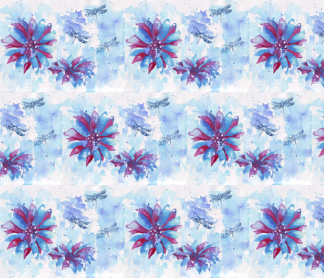 Abstract_Watercolor_design fabric by littlelemontreeart on Spoonflower - custom fabric