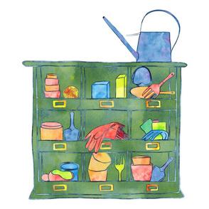 Potting Shelf