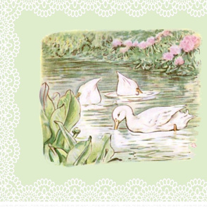 Duck Pond Lace FQ - Soft Green