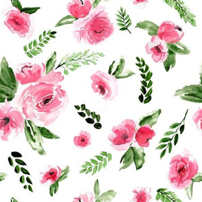 Watercolor Floral Pink 2