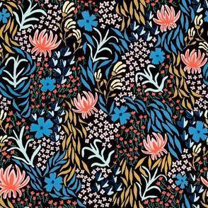 aprilfloral001spoonflowerblack