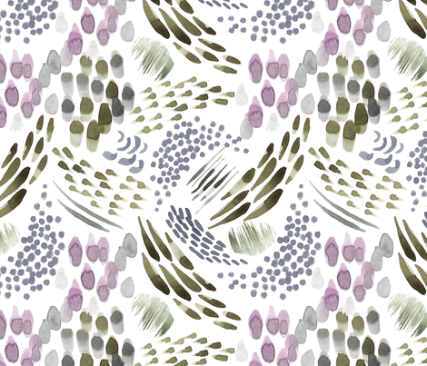 watercolour abstract fabric by laura_may_designs on Spoonflower - custom fabric