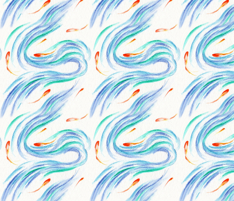 Sea Swirls fabric by jawpress on Spoonflower - custom fabric
