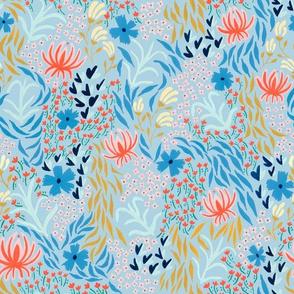 aprilfloral001spoonflowerltblue