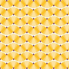 Yellow deco fan