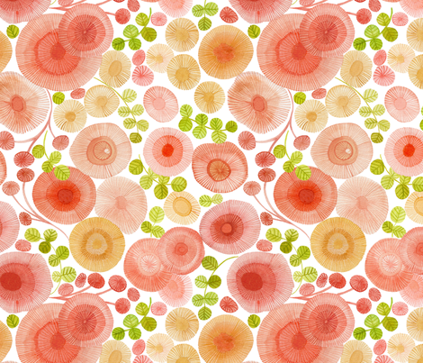 abstract watercolour floral fabric by cjldesigns on Spoonflower - custom fabric