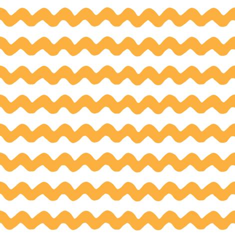 light orange rick rack fabric by lilcubby on Spoonflower - custom fabric