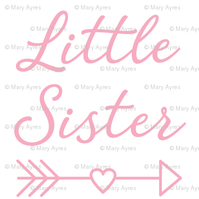 small little-sister-with-heart-arrow-light pink
