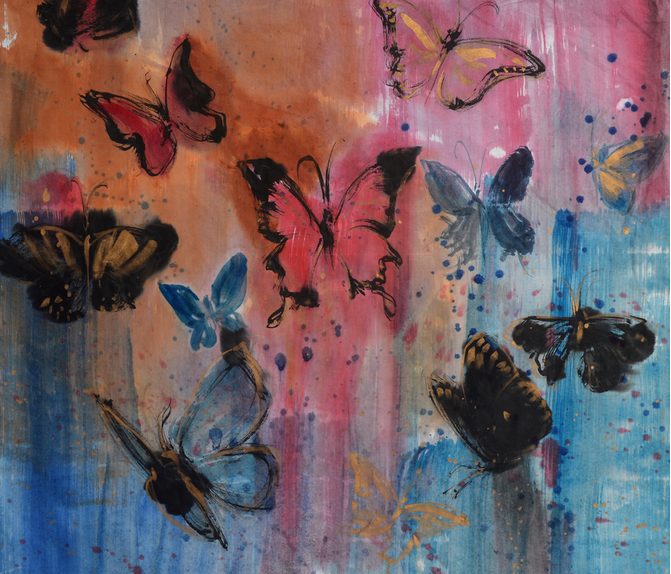 BUTTERFLY_square_1A_format_90x90 fabric by johngio on Spoonflower - custom fabric