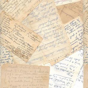 Handwritten Recipe Cards