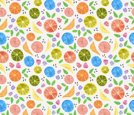 Citrus Berry Medley fabric by woolandtie on Spoonflower - custom fabric
