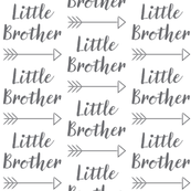 large little-brother-with-arrow-cursive - charcoal