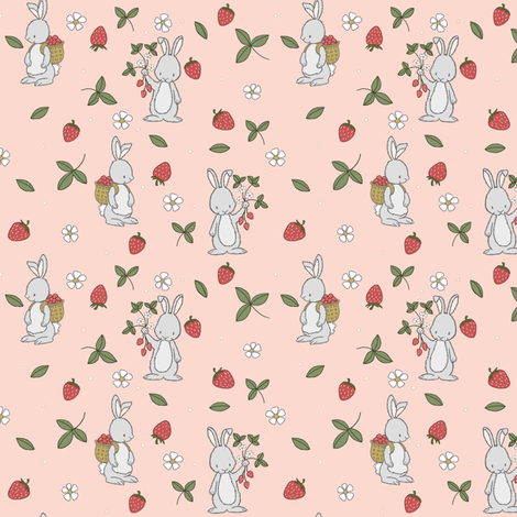 Berry Picking // by Sweet Melody Designs fabric by sweetmelodydesigns on Spoonflower - custom fabric