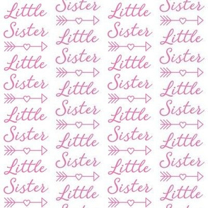 medium little-sister-with-heart-arrow - bright pink