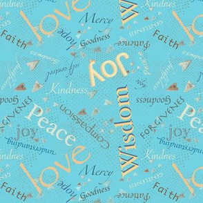 Christian Words of Hope!  - blue 152-185-206