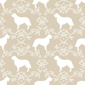Golden Retriever floral silhouette sand