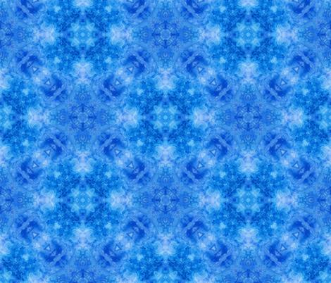 Blue watercolor Kaleidoscope  fabric by dariara on Spoonflower - custom fabric