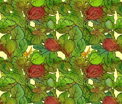 Fig Tree fabric by joannabarnum on Spoonflower - custom fabric