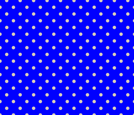 Beige Tan Polka Dots on Royal Blue fabric by paper_and_frill on Spoonflower - custom fabric