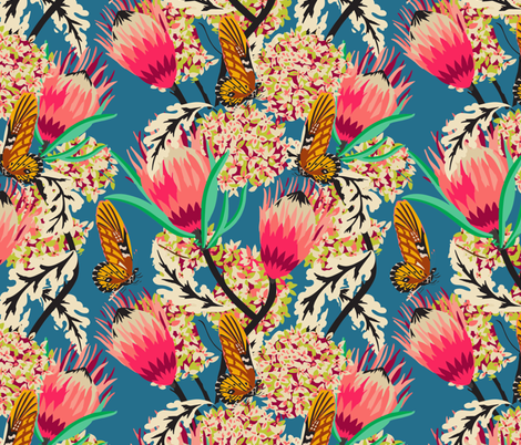 madamoiselle_chateau_butterfly fabric by holli_zollinger on Spoonflower - custom fabric