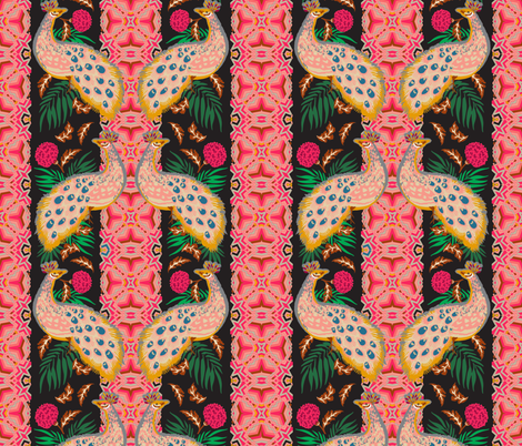madamoiselle_chateau_peacock fabric by holli_zollinger on Spoonflower - custom fabric