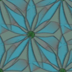 Quotidian Flower (Blue)
