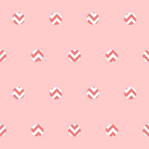 Rose Chevron Dots