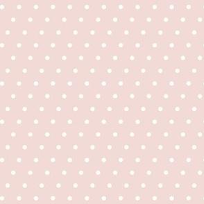 polka dot on blush - mermaid coordinate (warm)
