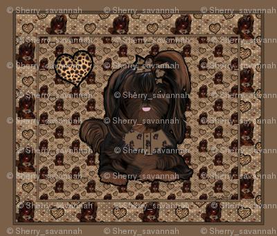 Shih Tzu Leopard Panel
