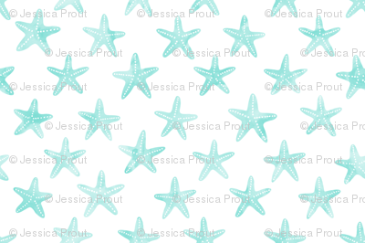 starfish teal - mermaid coordinate