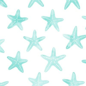 Starfish Fabric Wallpaper Gift Wrap