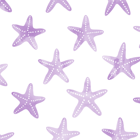 starfish purple - mermaid coordinate fabric by littlearrowdesign on Spoonflower - custom fabric