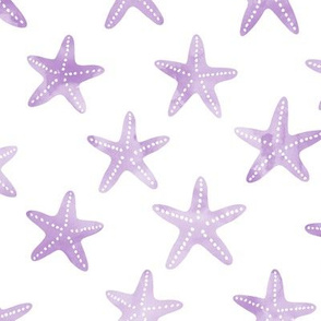 starfish purple - mermaid coordinate