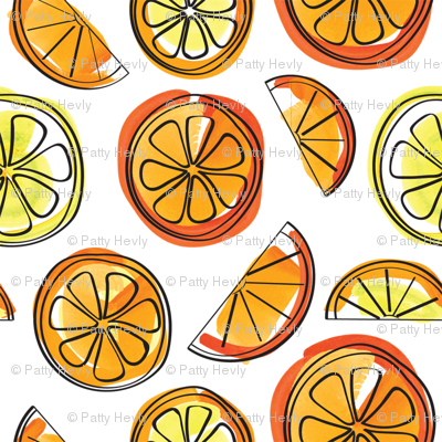 Oranges and Lemons Watercolor