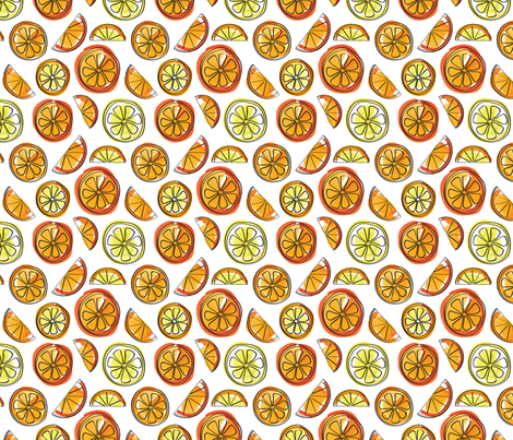 Oranges and Lemons Watercolor fabric by whyitsme_design on Spoonflower - custom fabric