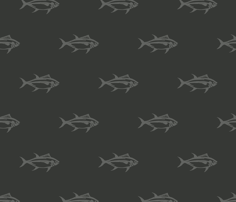 Swimming Bluefin Tuna fabric by heretherebemonsters on Spoonflower - custom fabric
