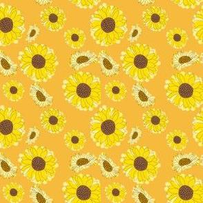 Handdrawn Sunflower