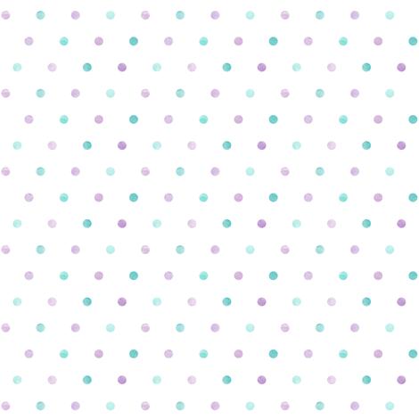 multi dot - mermaid coordinate fabric by littlearrowdesign on Spoonflower - custom fabric
