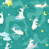 Dreaming Llamas- Larger Print