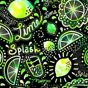 Lime splash doodle