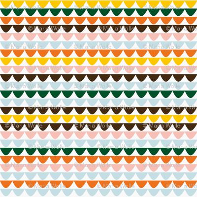 Tiles in Vintage Colours