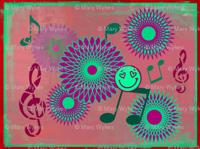 Musical Daze in Green, Purple and Burgundy - MD2