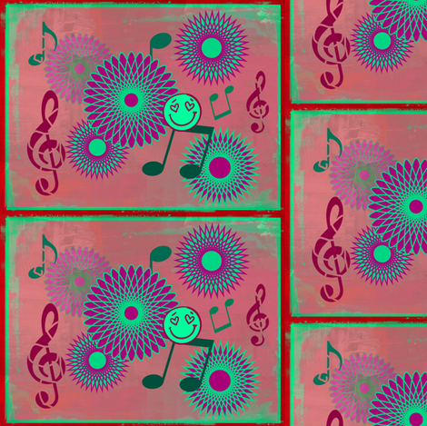 Musical Daze in Green, Purple and Burgundy - MD2 fabric by maryyx on Spoonflower - custom fabric