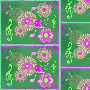 Musical Daze in Fuchsia and Green - MD6