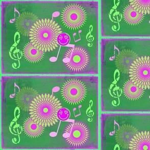 Musical Daze in Fuchsia and Green - MD6