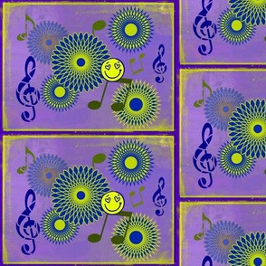 Musical Daze in Lavender and Chartreuse - MD7