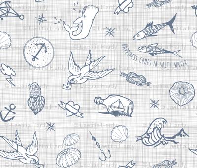 The sea messenger / Grey & grey linen